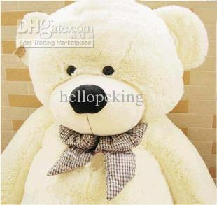 HOT! GIANT 80 BIG PLUSH TEDDY BEAR HUGE SOFT 100% COTTON TOY*three color:Brown; light brown; white