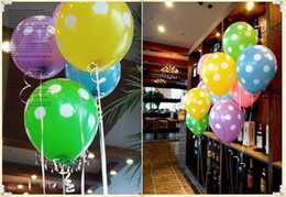 "Wholesale Filled Water Balloons - 12"" polka dots balloons, wedding favor, brithday decorations latex balloons, party items balloon"
