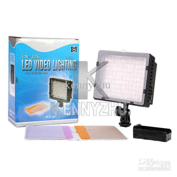 Professional CN-126 7.6W 126 Leds LED Video Light For Digital Camera Video Camcorder