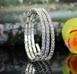 Wholesale Matching Wedding Rings - all-match sparkling diamond surround multi-layer bracelet Bridal wedding bracelet hand ring