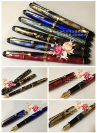 Wholesale Famous Arts - Chinese famous pen wingsung brand lucky-270 1990's Celluloid 0.5mm iridium-point fountain pen