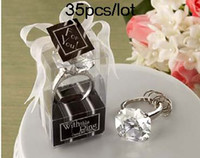Wholesale Photo Engagement Ring - Wedding Decoration Gift With This Ring Arcylic Clear Engagement Ring Keychain 35pcs lot real photos