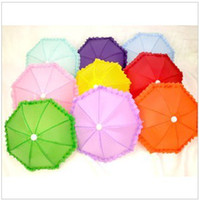 Wholesale Umbrella Lace - Candy color solid color Lace Umbrella Dance Umbrella toy props umbrella special multicolor top sale free shipping