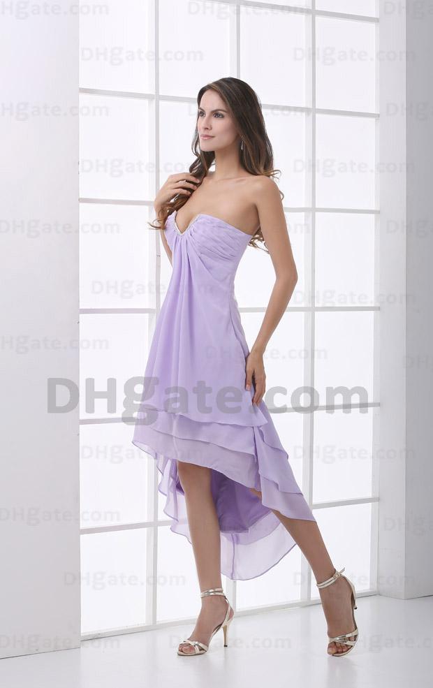 Short front long back bridesmaid dress