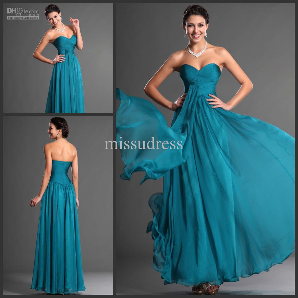 Elegant Aqua A Line Cheap Formal Dress Evening Dress Prom Dress ...