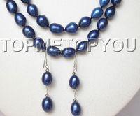 boucles d'oreilles bleu marine achat en gros de-meilleur achat bijoux de perles fines 22