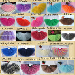 Wholesale Party Dance Tutus - baby girl dance tutu skirt children tulle tutus pettiskirt princess party costumes Free shipping 10pcs lot