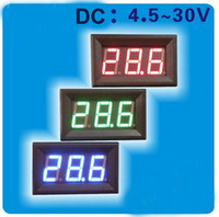 4.5v voltage al por mayor-Metro del panel del voltaje de voltio 5pcs Mini LED Digital DC 4.5V-30V Doesn # 039; t requiere de energía