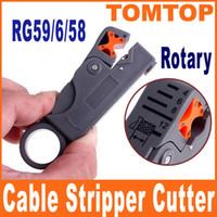 Wholesale Wholesale Coaxial Cable Rg6 - Rotary Coaxial Cable Stripper Cutter Tool for RG59 RG6 RG58 Cables Freeshipping Drop Shipping C1052