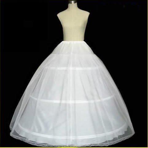 Gratis frakt! 3hoops 1t bröllop tillbehör petticoat justerbar midja vuxen boll klänning petticoats crinoline underskirt