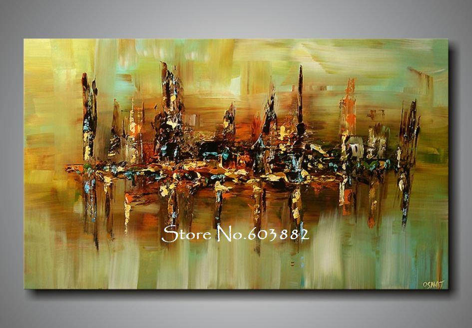 100 handpainted abstract canvas wall art high quality for Unique canvas ideas