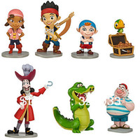Wholesale Jake Neverland Set Figures - Wholesale - New Fashion Cute PVC Jake and the Neverland Pirates Figure play 7 style 1 Sets