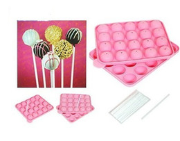 Wholesale Cake Pop Baking Tray - NEW SILICONE NON STICK CAKE POP SET BAKING TRAY MOLD BIRTHDAY PARTY 20 UNITS