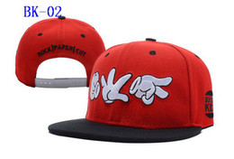 Wholesale Rock Snapback Hats - Booger Kids Rock Paper Cut Snapback RED Snapbacks Hats Cap Adjustable Hip Hop Snapback hat caps
