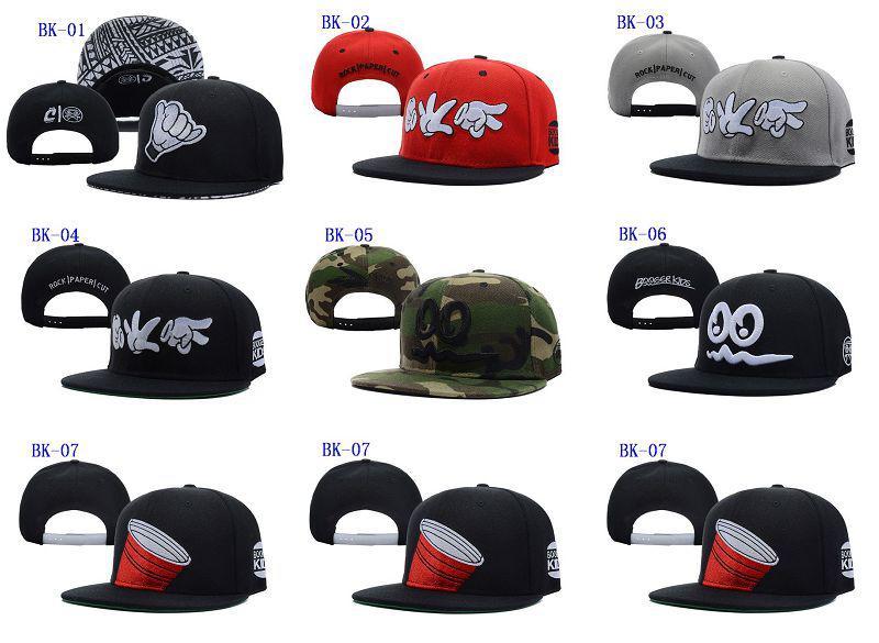 Booger Kids Rock Paper Cut Snapback Red Snapbacks Hats Cap Регулируемый хип-хоп Snapback Hat Caps Caps