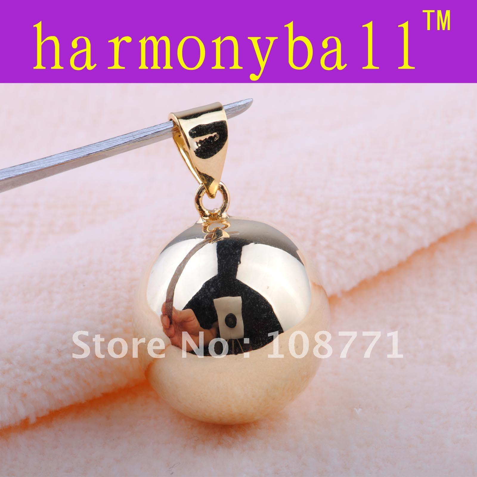 2018 gm017 18k gf gold pendant harmony ball bell ringing chime see larger image aloadofball Gallery
