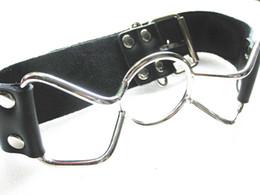 Wholesale Gadgets Sex - Women Open Mouth Bite Gag Ring Gag Stopper SM Bondage Gadgets Adult Sex Toys Leather Belt + Metal YTJ1044