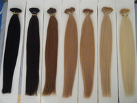 "Wholesale Blonde Tip Colors - 100g 18"" 20"" 22"" 24"" Keratin Stick I Tip Human Hair Extensions INDIAN REMY 20 colors in stock Fast shipping"