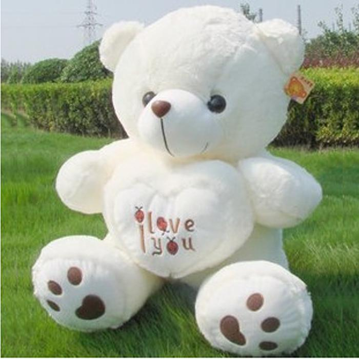 Perfekt Best White Color Plush Love Heart Teddy Bear Big Stuffed Toy Valentineu0027s Day  Wedding Gift Birthd Gift Under $15.61 | Dhgate.Com