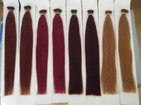 "Wholesale Keratin I Tip Hair Extensions - MIRACLE 100g 18"" 20"" 22"" 24"" Keratin Stick I Tip Human REMY Hair Extensions INDIAN 99j# burg# 33# 30# 030"