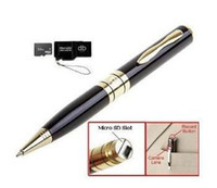 Wholesale Spy 4gb Usb Pen Recorders - USB Spy pen camera digital video recorder 1280 x 960 hidden pen camera With 4GB TF Card