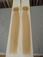 """Wholesale Nail Tips Straight Hair - MIRACLE 100g 18"""" 20"""" 22"""" 24"""" 1g #613 keratin prebonded nail U tip REMY hair extensions straight 013"""