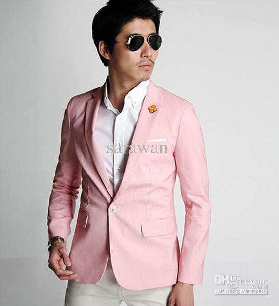 Custom Made To Measure Pink Men Jacket,Tailored Casual Men'S ...