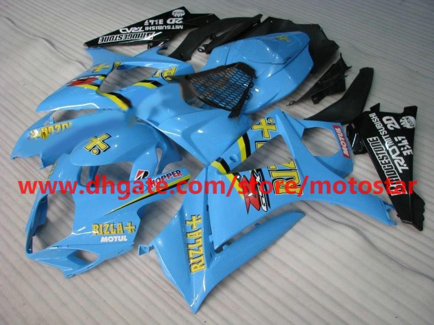 Rizla fairings For 2007 2008 SUZUKI GSX-R1000 K7 fairings kits GSXR1000 07 08 GSXR 1000 full fairing kit K7F