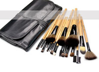 Wholesale makeup tool roll - On Sale set Professional Makeup Make Up Cosmetic Brushes Set Kit Tool Roll Up Case