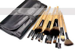 Wholesale 18 Pcs Professional Brushes Set - On Sale 18 pcs =1 set Professional Makeup Make Up Cosmetic Brushes Set Kit Tool + Roll Up Case