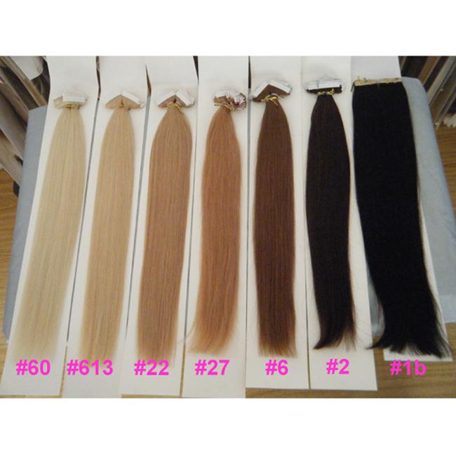 Miracle 100g 18 20 22 24 16 Glue Skin Weft Tape In Hair Extensions