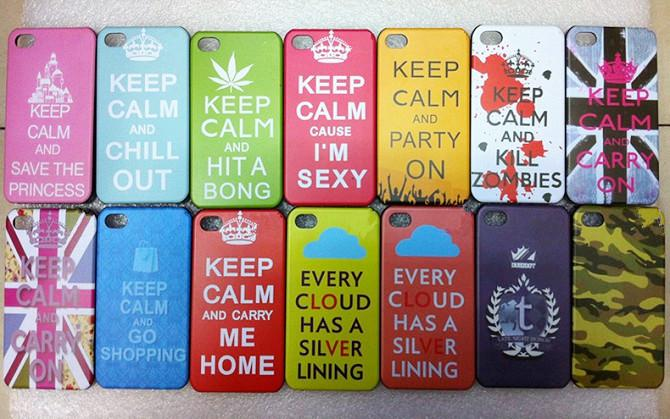Unique Keep Calm Series Cases For Iphone 4 4g 4s Keep Calm And Carry On  HP23