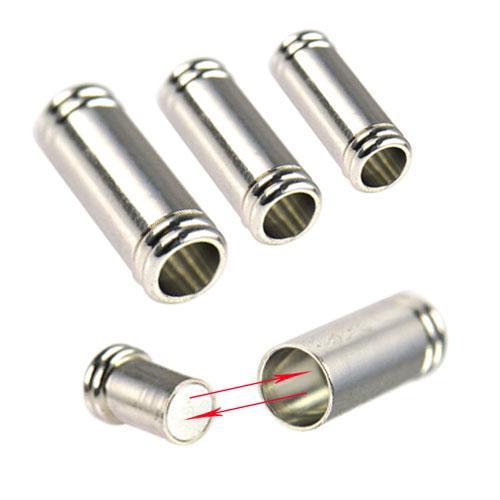 Messing Magnetverschluss für Schmuckzubehör mit Endloch 6mm, PT-690