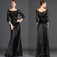 Wholesale best long black evening dresses for sale - Group buy Best selling Noble Mother of the bride Dresses Formal lady Evening Dress Long sleeves Satin Floor Length Party Mother Gowns