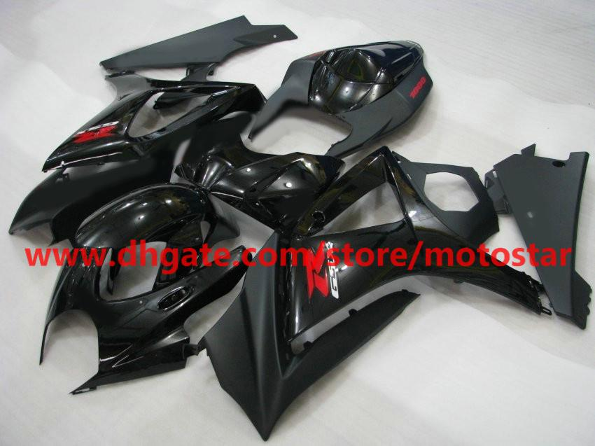 Flat Matte Black för 2007 2008 Suzuki GSX-R1000 K7 GSXR1000 07 08 GSXR 1000 Full Set Fairing Kit Fairings Kits