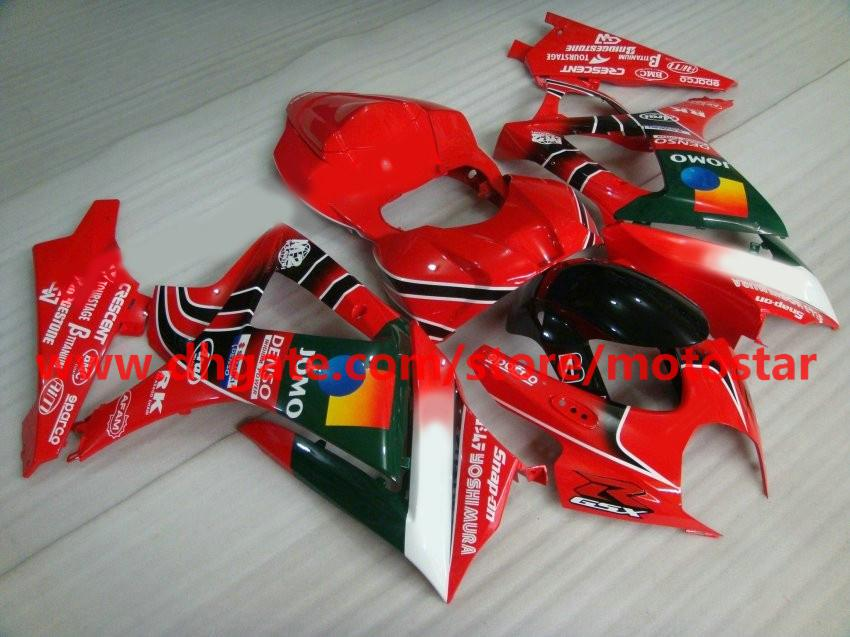 Red JOMO For 2007 2008 SUZUKI GSX-R1000 K7 GSXR1000 07 08 GSXR 1000 full set fairing kit K7M