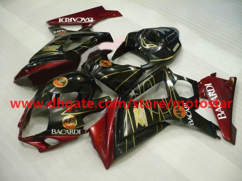 Bacardi Fairings Kit för Suzuki GSX-R1000 2007 2008 Version GSXR1000 K7 07 08 GSXR 1000 Röd guld