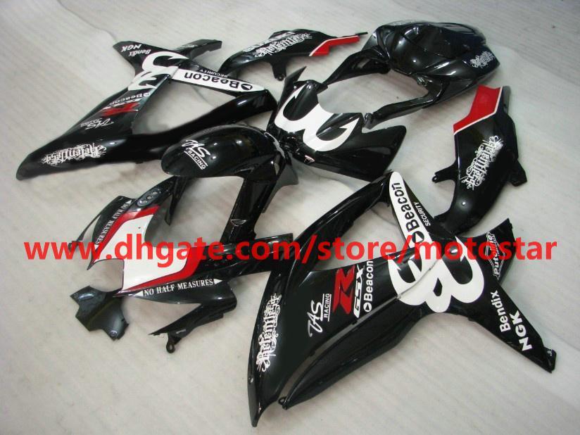 Zwart Beacon voor Suzuki GSXR 600 750 K8 2008 2009 2010 GSX-R600 GSXR750 08-10 FUNDINGS KIT K87