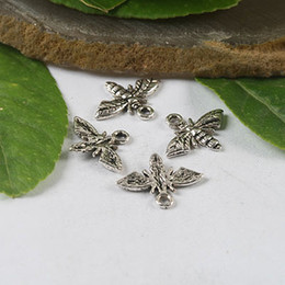 Wholesale Tibetan Bee - 100pcs Tibetan silver crafted bee charms H0446