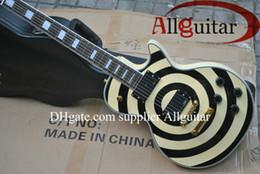 Wholesale Active Shops - custom shop Zakk Guitar cream yellow bullseye EMG active pickups 81 85 electric guitar China guitar