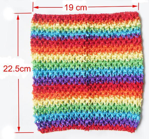 9インチ編み物チュチュトップベイビー幼児女の子DIYパーティーチュチュドレスチューブトップスウィストバンド