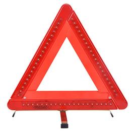 Wholesale Emergency Warning Triangle - car emergency 60 LED Flashing Red Light warning triangle strobe Light signal easy folding easy store