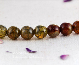 Wholesale Natural Gemstone Agate - 4 mm natural brown dragon agate beads natural gemstone loose beads DIY \ Jewelry Accessories