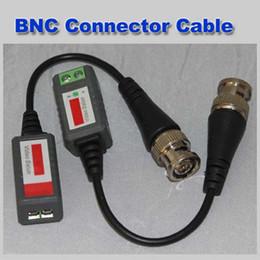 koaxialkabel cctv kamera Rabatt Mini CCTV Kamera Passive Video Balun BNC Stecker Cat5 UTP Koaxialkabel 100 teile / los