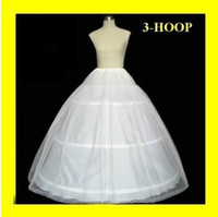 Wholesale New Wedding Ball Gown - Hot sale 3 Hoop Ball Gown Bridal Petticoat Bone Full Crionline Petticoat Wedding Skirt Slip New H-3