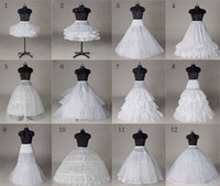 Wholesale Polyester Wedding Gown For Sale - Hot sale 50% off 12 Style White A Line Fishtail Hooples Crinoline Petticoat Underskirt For Wedding