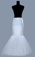Wholesale Trumpet Gown Wedding Petticoats - In Stock Mermaid Bridal Petticoat Underskirt For Wedding Bridal Dresses Prom Evening Fishtail Formal Gowns New