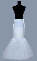 Wholesale Wedding Gown Mermaid Petticoats - In Stock Mermaid Bridal Petticoat Underskirt For Wedding Bridal Dresses Prom Evening Fishtail Formal Gowns New