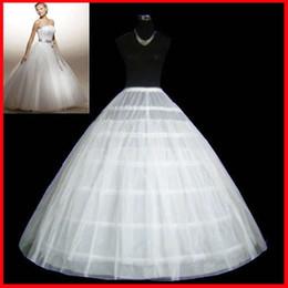 Wholesale White Crinoline Line - Free shipping In Stock Wholesale Bridal Petticoat White Wedding Accessories Bridal Petticoat Crinoline 6 Hoop 2 Tier