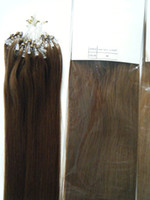 Wholesale Loop Micro Ring Natural Hair - MIRACLE 100g 18inch 20inch 22inch #4 Indian human micro ring REMY hair Loop hair extensions 03
